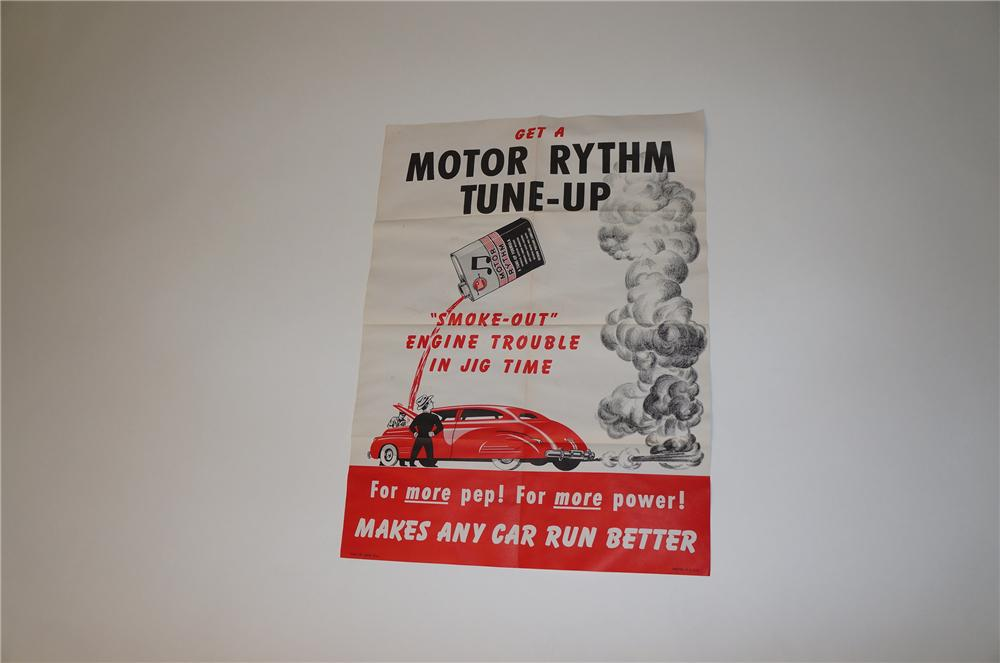 Neat 1950s N.O.S. Whiz Motor Rhythm Tune-Up service station poster with great period graphics. - Front 3/4 - 158068