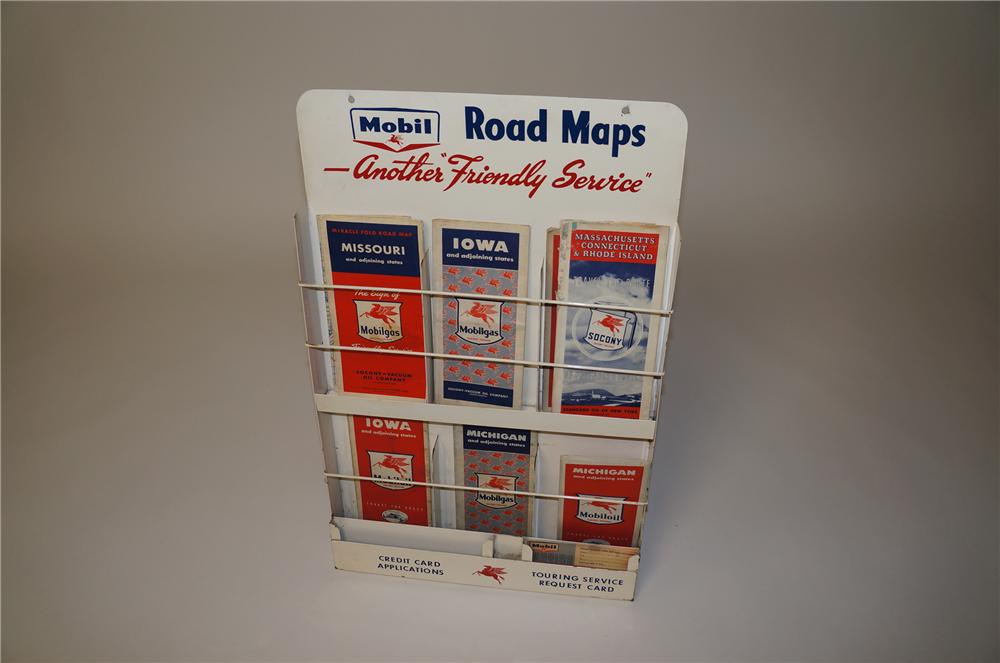 Terrific Late 1950s Mobil Oil Service Station Map Rack Comple