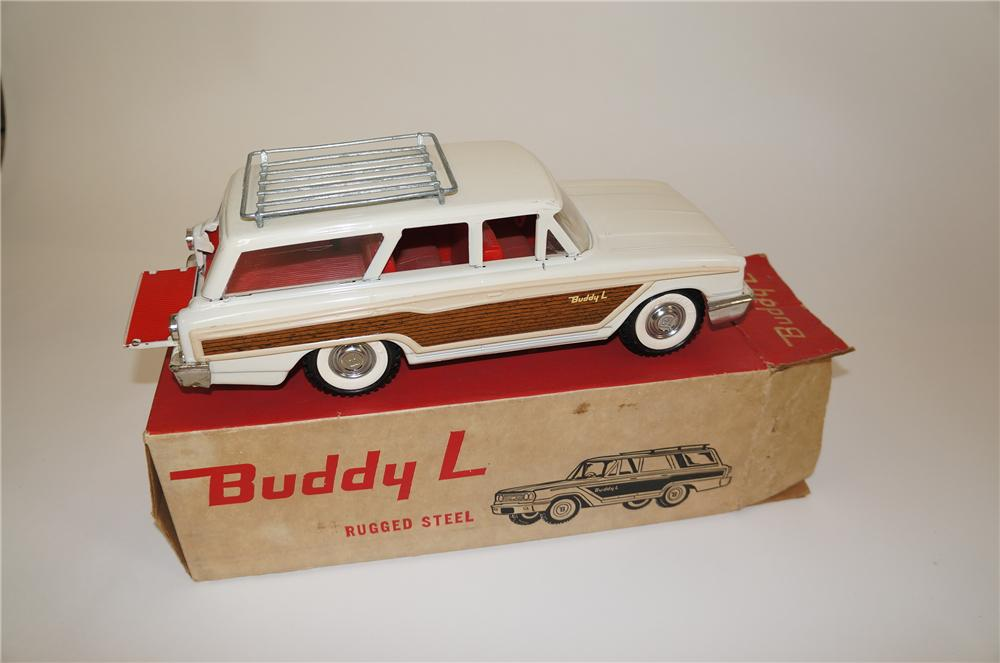 Phenomenal vintage Buddy L Country Squire Wagon still in the original box.  An amazing find! - Front 3/4 - 158155