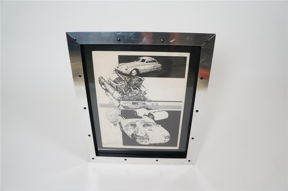 Very Interesting Porsche Artwork by   presented in a modern special frame.  #72/250 - Front 3/4 - 158182