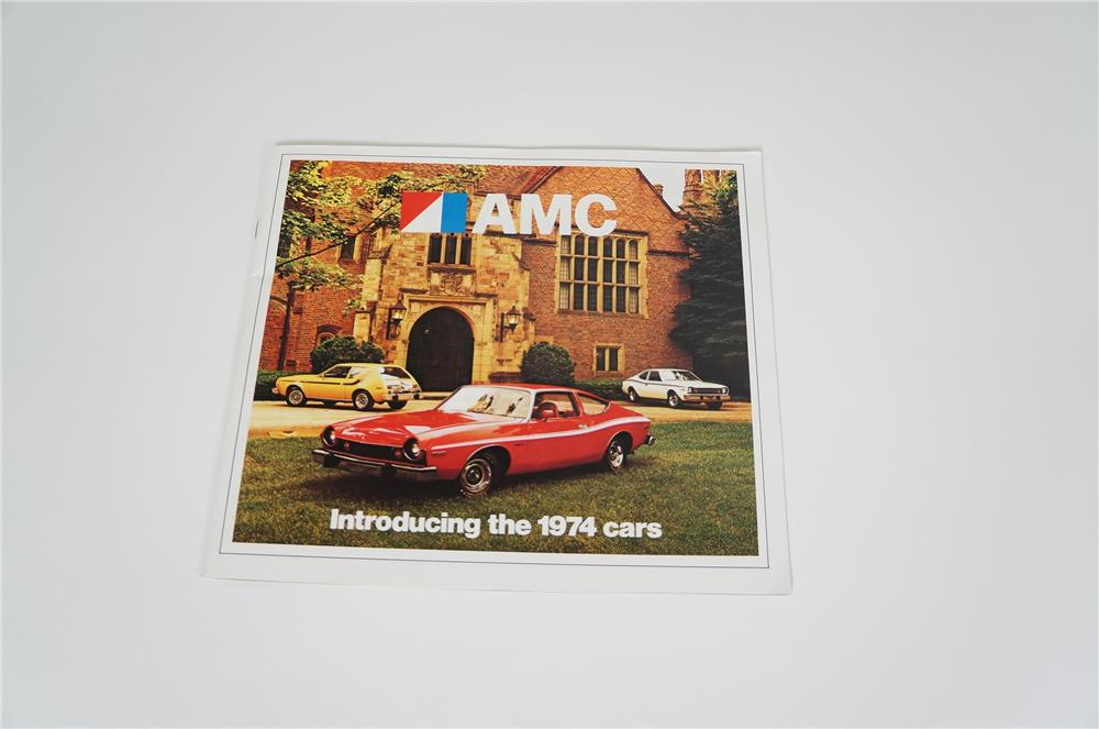 Hard to find 1974 N.O.S. AMC showroom sales brochure featuring the iconic Javelin and Gremlin. - Front 3/4 - 158208