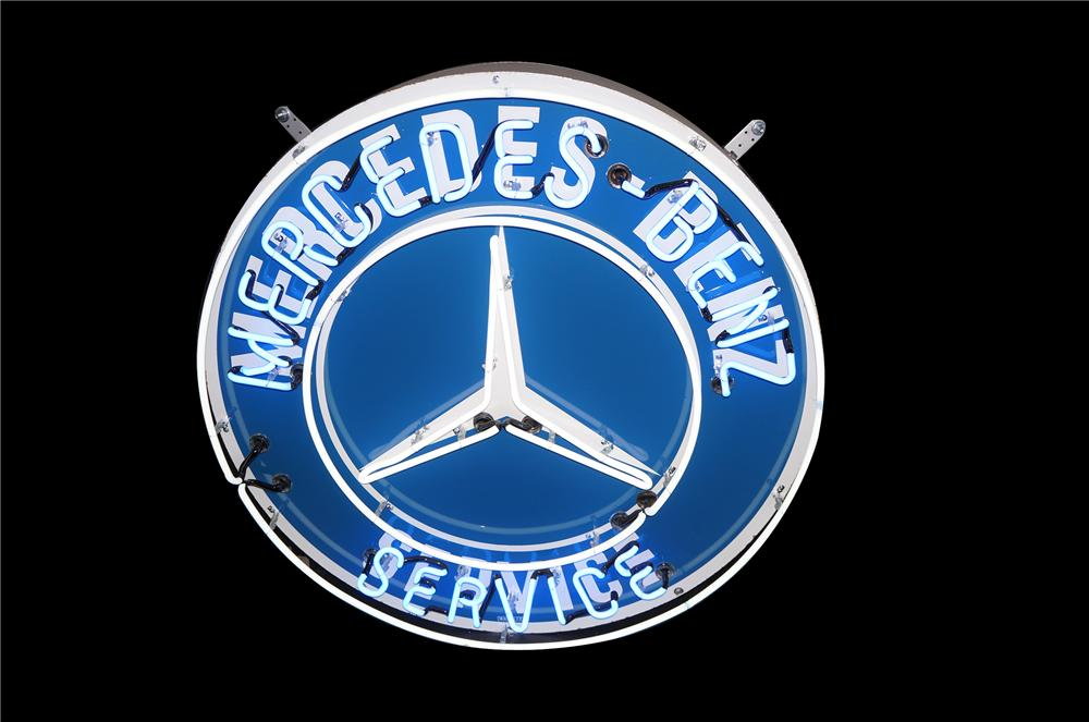 Killer 1950s Mercedes-Benz porcelain with neon dealership sign made for the American market. - Front 3/4 - 158216