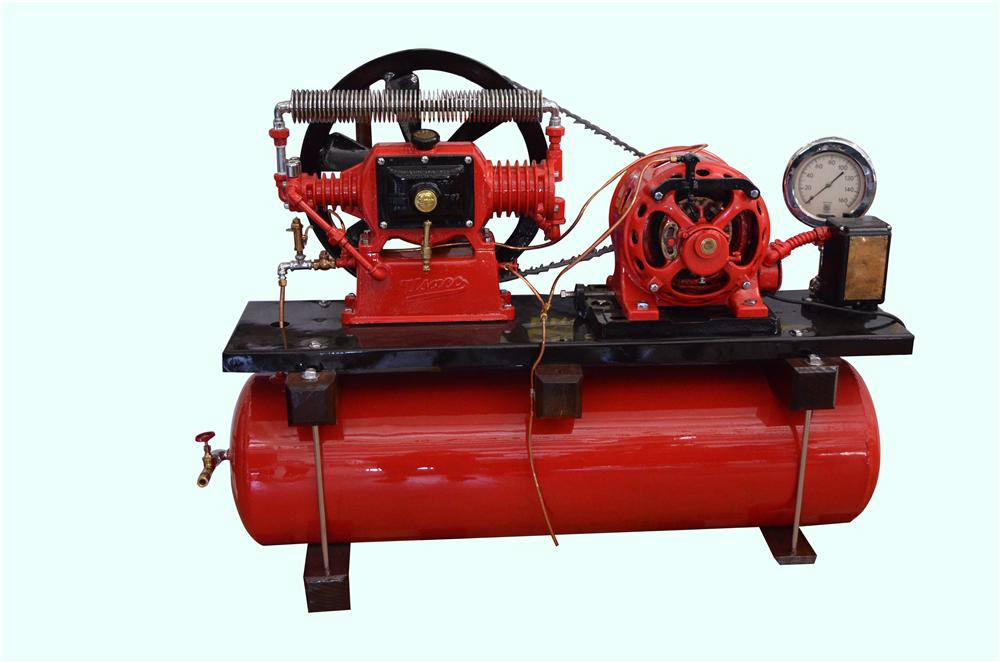 This scarce early 1900s U.S. Air Compressor was restored by McLaren Classic Restorations to the highest of standards - Front 3/4 - 158270