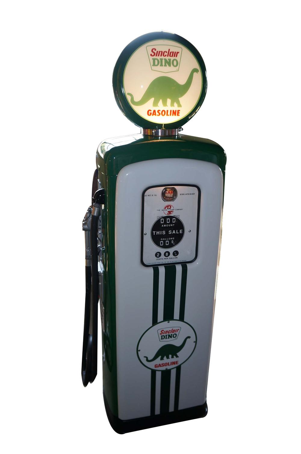 Good looking 1948 Sinclair Oil model M/S 80 restored service station gas pump.  Restored to highest possible standards. - Front 3/4 - 158349