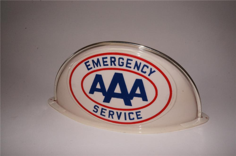 Very neat 1950's Triple A Emergency Service wrecker roof mount sign. - Front 3/4 - 162126