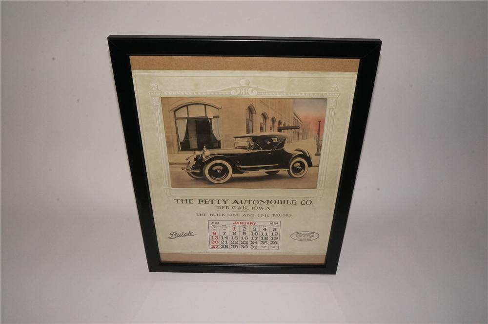 Magnificent 1924 Buick-GMC dealership calendar for the Petty Motor Company featuring a Buick Roadster. - Front 3/4 - 162211