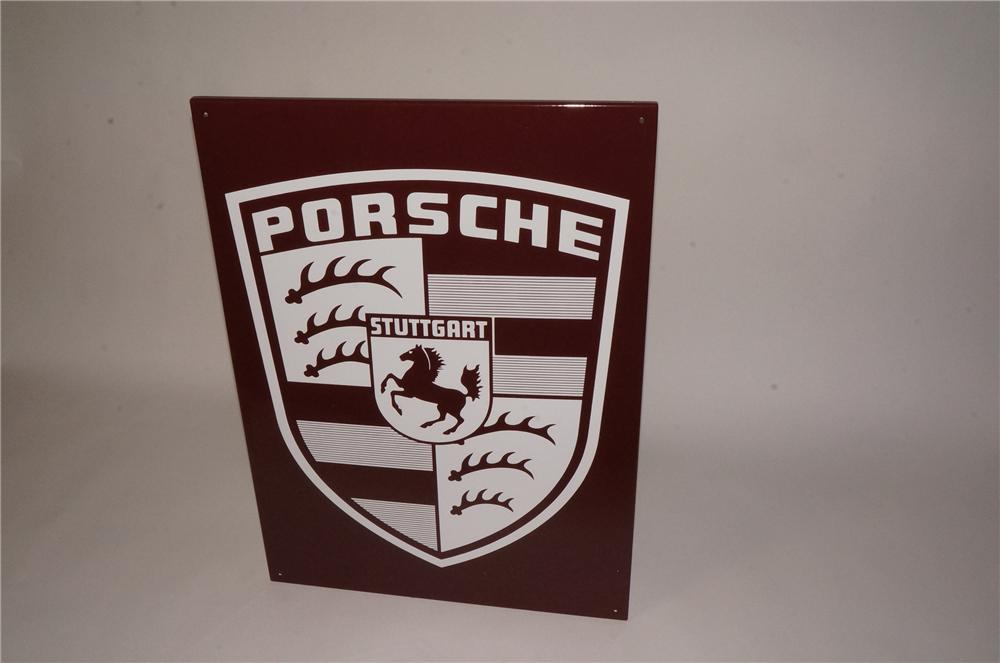 Highly prized late 1950's-60's Porsche Automobiles single-sided porcelain dealership sign. - Front 3/4 - 162466