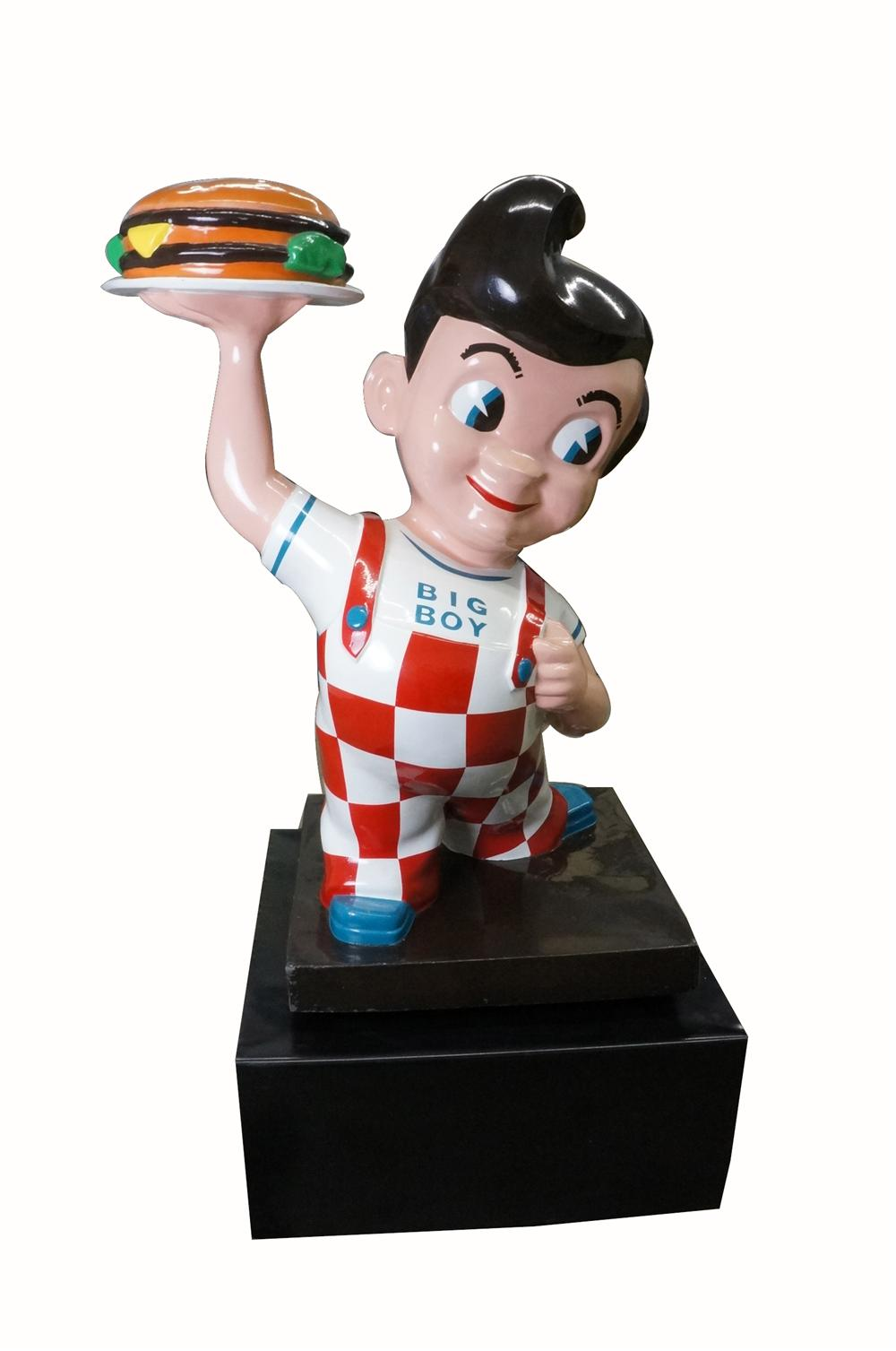 Iconic 1950's-60's Big Boy Restaurant's hard to find smaller version three dimensional restored drive-in sign. - Front 3/4 - 162497