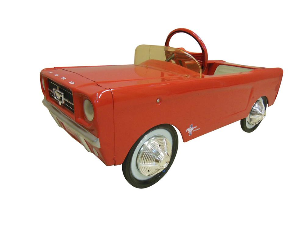 Beautiful never used, unrestored 1964 1/2 - 1964 AMF Mustang Pedal Car. - Front 3/4 - 162666