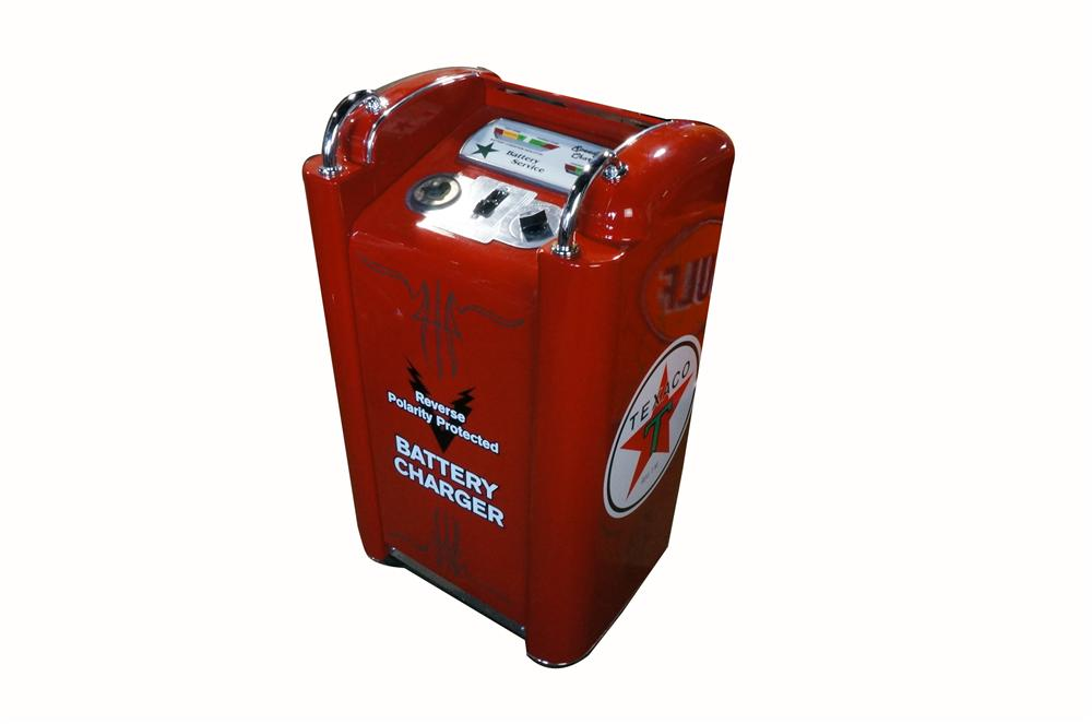 Nifty 1940's-50's Texaco Oil service department restored wheeled battery charger. - Front 3/4 - 162860
