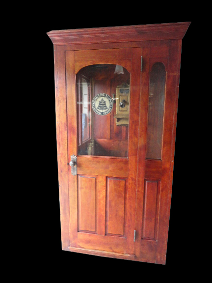 Unique 1930's restored Bell Telephone over-sized public phone booth. - Front 3/4 - 162870