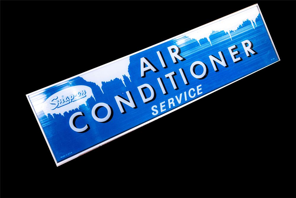 Very neat 1950's-60's Snap-Op Automotive Air Conditioner Service light-up garage sign. - Front 3/4 - 162885
