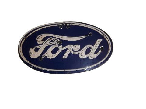 1930's Ford Automobiles single-sided neon porcelain dealership sign.  Lights and works perfectly! - Front 3/4 - 162886