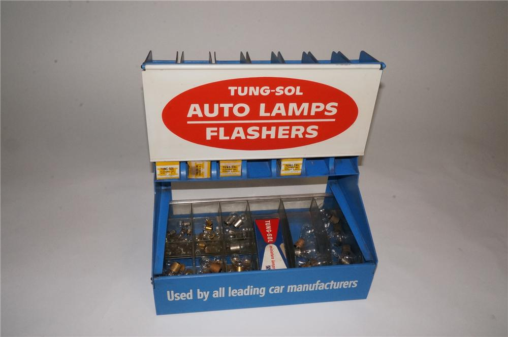 Vintage Tung-Sol Auto Lamps - Flashers counter-top display filled with original product. - Front 3/4 - 162983