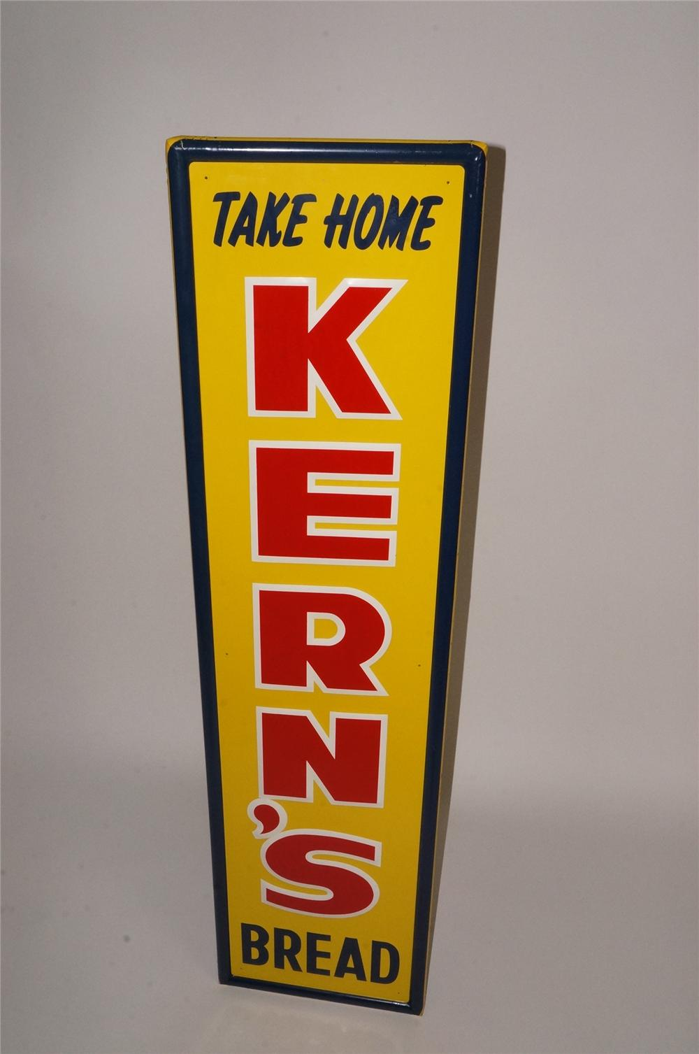 N.O.S. Kern's Bread self-framed vertical tin sign with embossed lettering. - Front 3/4 - 163071