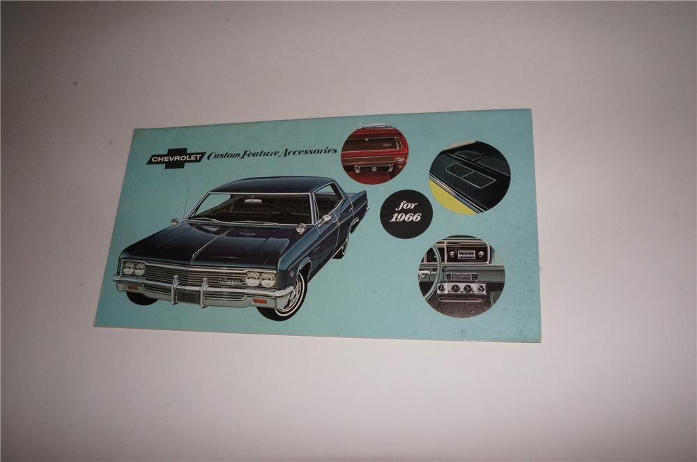 Hard to find 1966 Chevrolet Custom Feature Accessories showroom sales12 page color brochure. - Front 3/4 - 163117