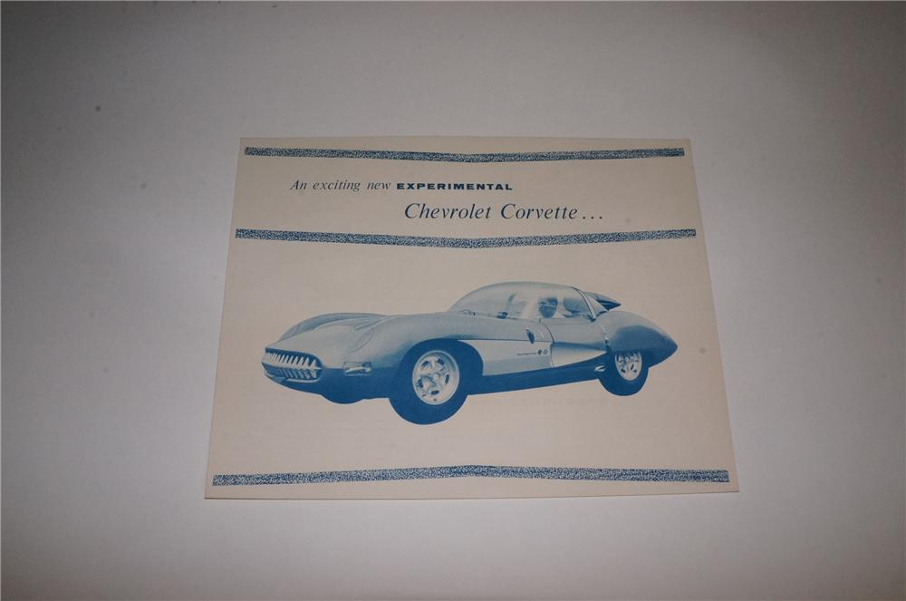 N.O.S. 1957 Experimental Chevrolet Corvette four page brochure on the concept car. - Front 3/4 - 163120
