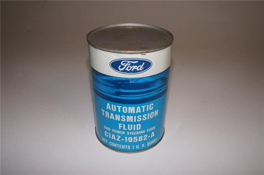 N.O.S. 1960's Ford Automatic Transmission Fluid metal quart can featuring the new GT-40. - Front 3/4 - 163144