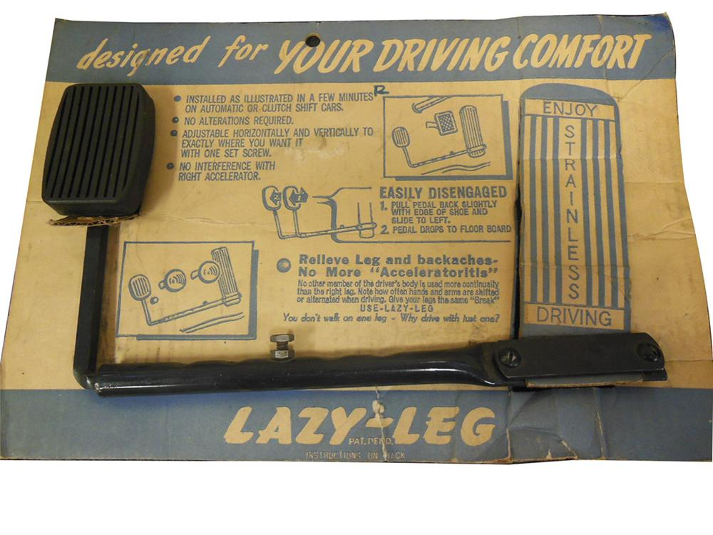 N.O.S. Lazy-Leg with original display card. Attaches to the gas pedal allowing driver to use his left foot to accelerate. - Front 3/4 - 163159