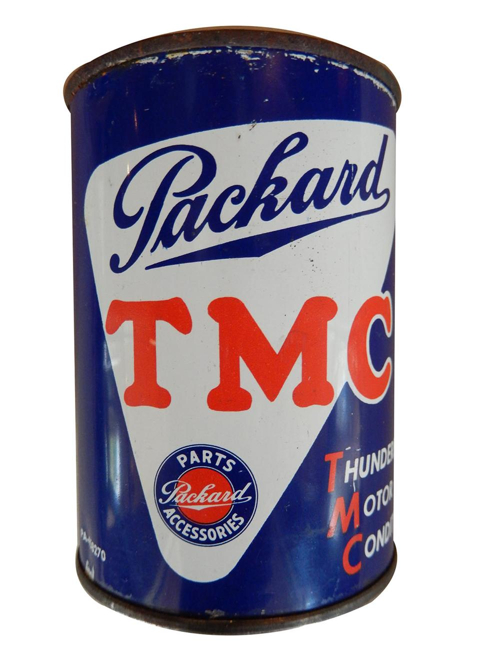Rarely seen Packard Automobiles TMC Motor Conditioner tin.  Highly desirable. - Front 3/4 - 163168