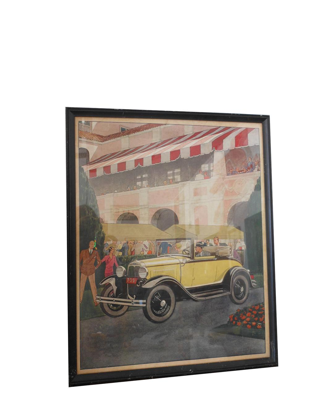 1932 Ford Sport Coupe sales showroom advertising display.  Very colorful and in excellent condition. - Front 3/4 - 163180