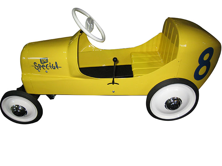 Awesome circa 1950's BMC Grand Prix pedal car restored to original specs with N.O.S. parts. - Front 3/4 - 163186