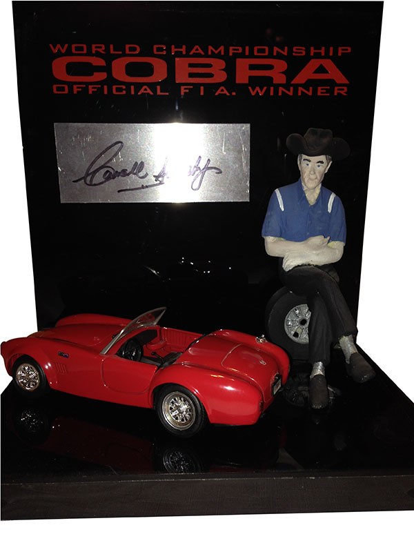 Carroll Shelby Figurine with original Carroll Shelby autograph and a 427 model. Only 2 made, Mr.Shelby owned the other. - Front 3/4 - 163188