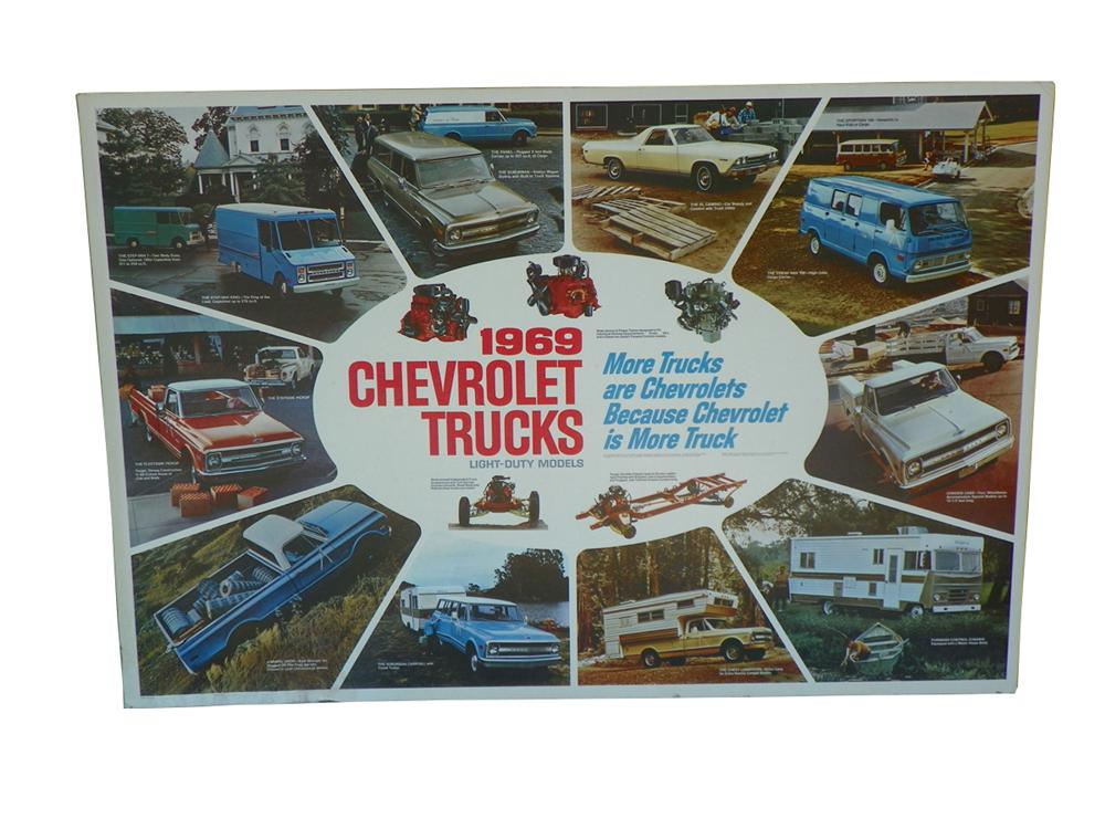 1969 Chevrolet Trucks showroom poster depicting the entire line-up. - Front 3/4 - 163269