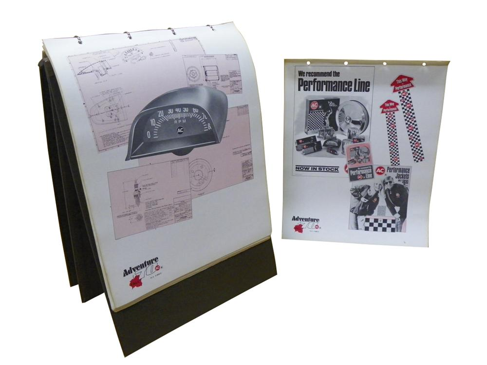 "1970 GM AC Distributor Management presentation A-Frame display for ""Performance Items"". - Front 3/4 - 163274"