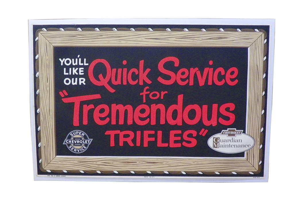 "N.O.S. Chevrolet Super Service Department poster  ""Quick Service"". - Front 3/4 - 163283"