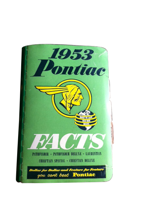 1953 Pontiac Salesman's Facts and Features Book.  182 pages of illustrations, features, options and more. - Front 3/4 - 163305