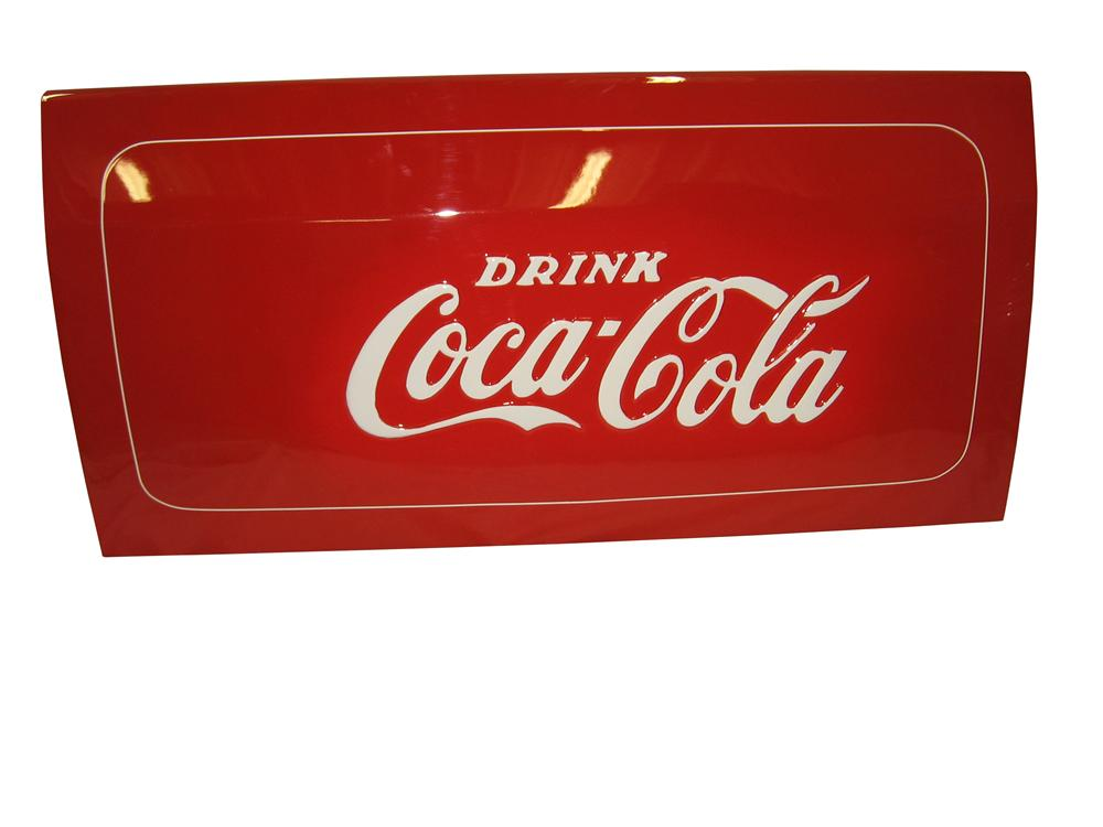 Choice Coca-Cola Wall Art. Actual metal cooler side panel from a 1950's Coca-Cola Westinghouse ice chest. - Front 3/4 - 163326