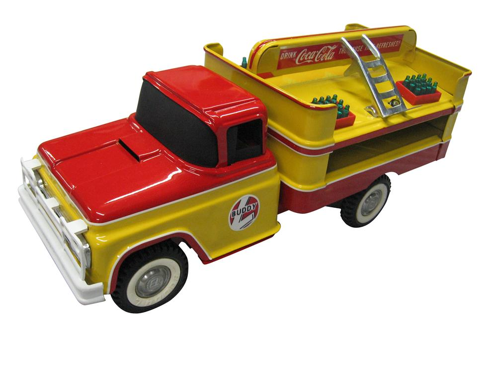 Sharp Buddy L Coca-Cola Delivery truck with custom painted two-tone restoration second to none. - Front 3/4 - 163329