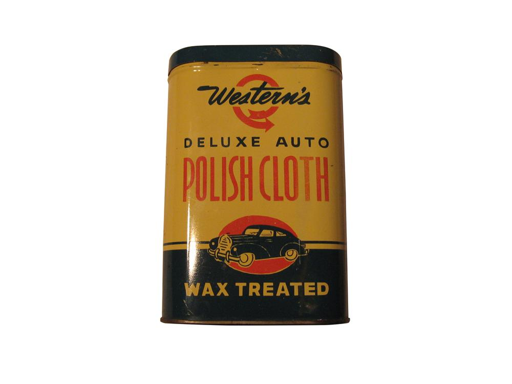 Western Auto Deluxe Polish Cloth and Tin. - Front 3/4 - 163331
