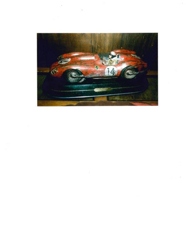 """Outstanding """"Two Thoroughbreds"""" automotive cast bronze statue by internationally recognized automotive sculptor Stanley Wanlass. - Front 3/4 - 163349"""
