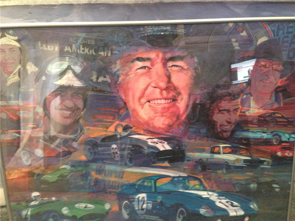 Professionally framed authentically signed Carroll Shelby print acquired directly from Shelby American. - Front 3/4 - 163355