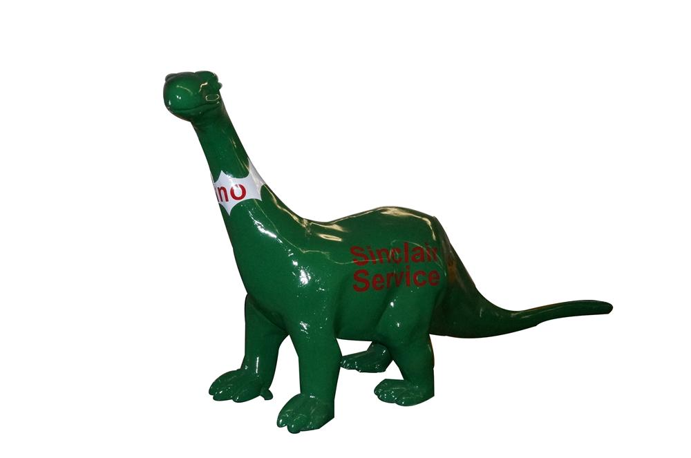 Wonderful restored Sinclair Oil three-dimensional cast metal service station dinosaur. - Front 3/4 - 163360