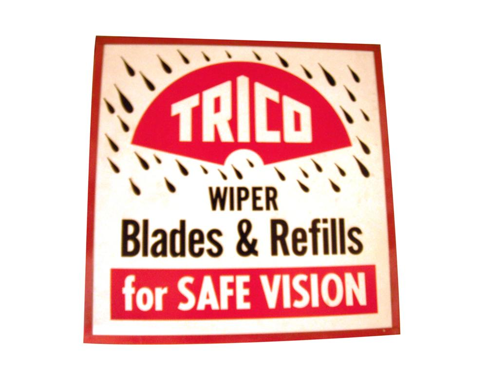 Fabulous 1950's-60's Trico Wiper Blades and Refills service station light up sign. - Front 3/4 - 163425