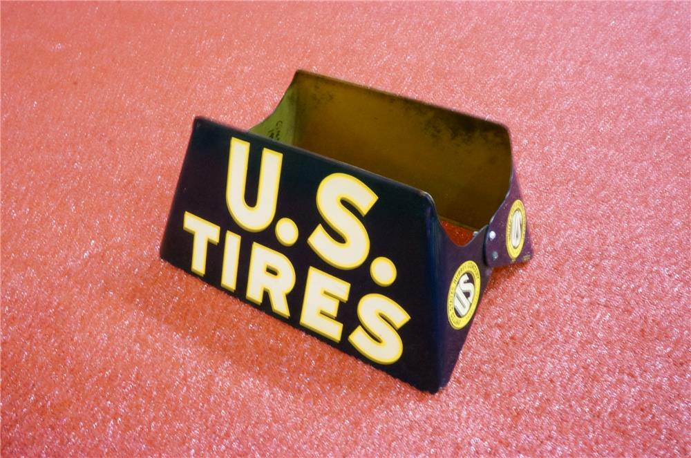 Addendum Item - Sharp 1941 U.S. Tires double-sided tin service station tire display. - Front 3/4 - 166618