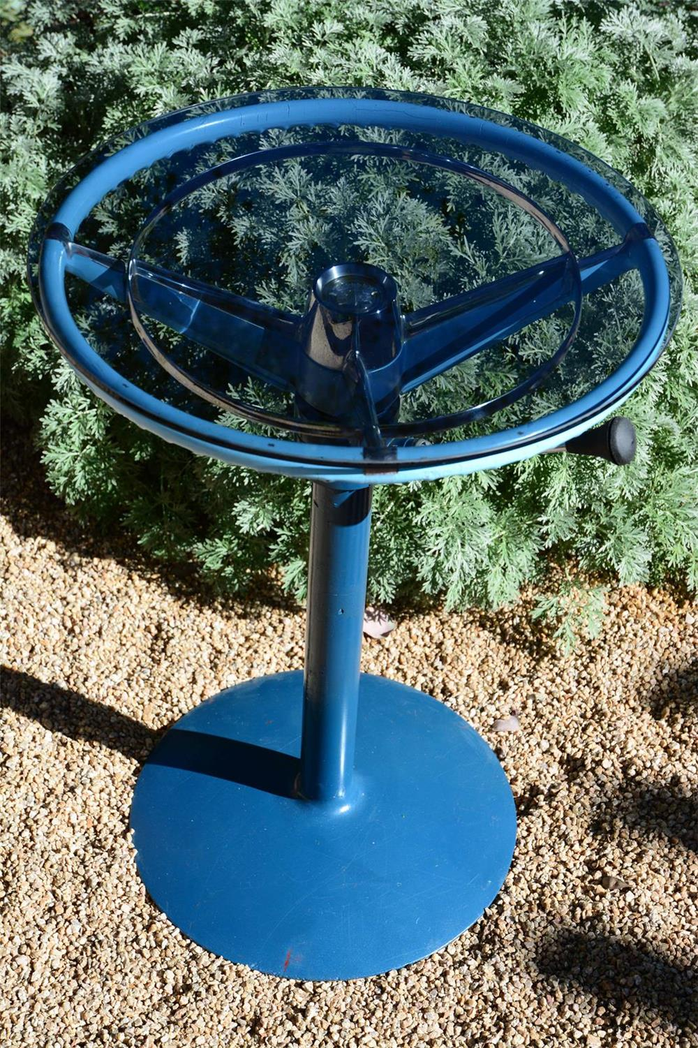 Addendum Item - Very clever 1950's Cadillac steering column/ steering wheel coffee table. - Front 3/4 - 166654