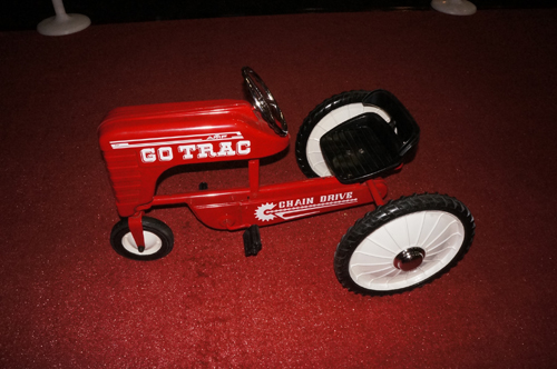Addendum Item - Vintage restored Go-Trac pedal car by AMF with chain drive. - Front 3/4 - 166713