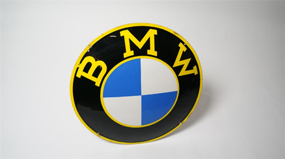 Highly desirable 1950's BMW Automobiles single-sided three-dimensional porcelain dealership sign. - Front 3/4 - 170538