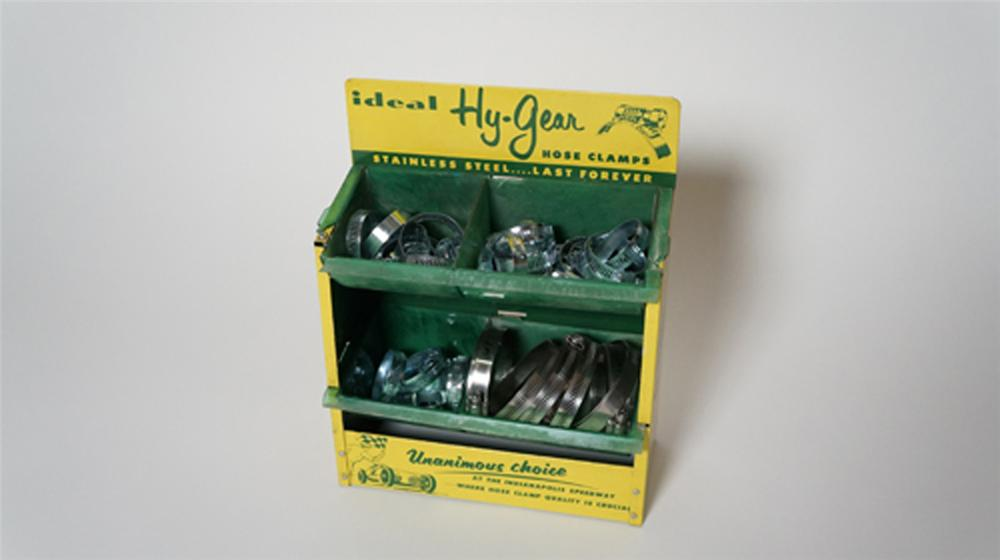 1950's-60's Hy-Gear Automotive Hose Clamps automotive garage counter-top display with racing graphics. - Front 3/4 - 170563