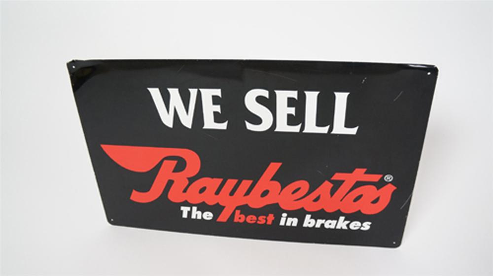 Vintage We Sell Raybestos Brakes single-sided tin automotive garage sign. - Front 3/4 - 170608
