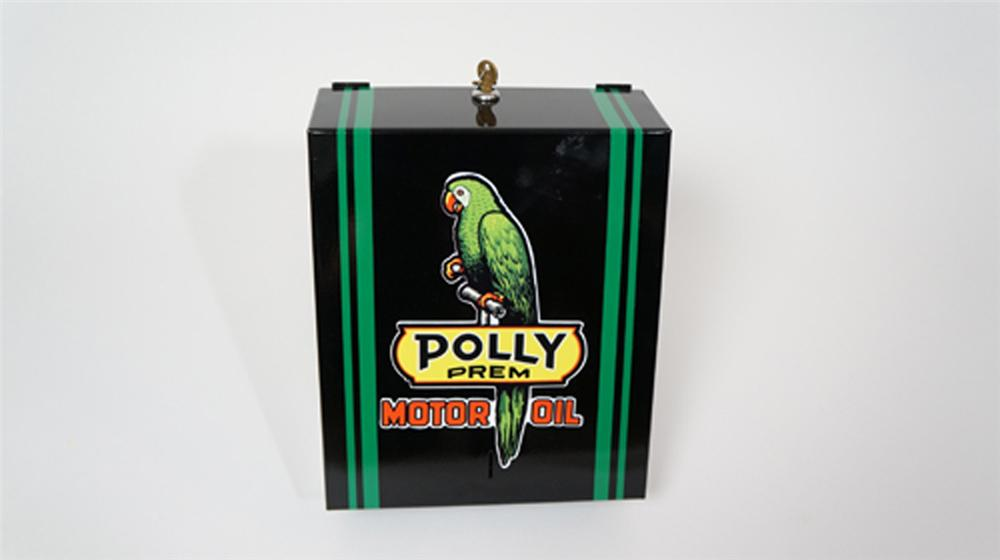 Nifty vintage service station fuel island paper towel dispenser restored in Polly Gas regalia. - Front 3/4 - 170645