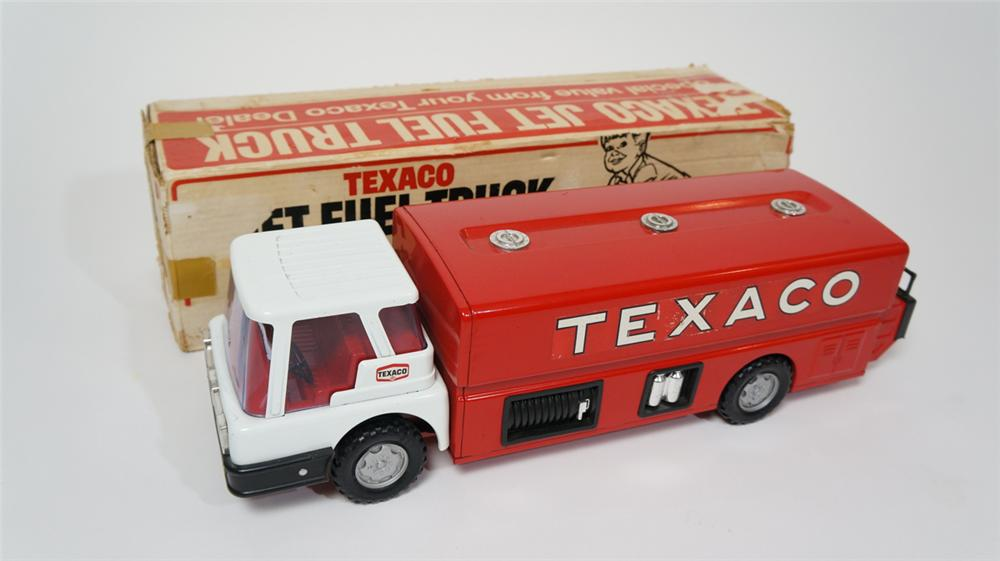 N.O.S. 1960's Texaco Oil tanker truck still in the original box! - Front 3/4 - 170659