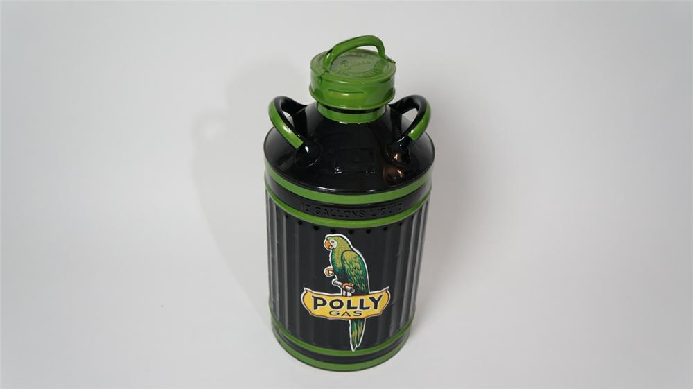 1920's-30's Enisco filling station gas/oil can restored in Polly Gas regalia. - Front 3/4 - 170672