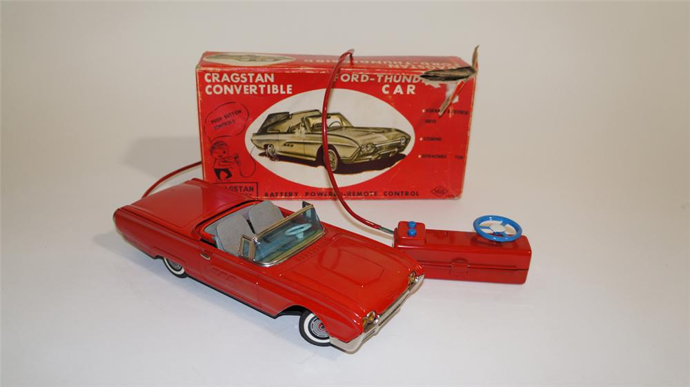 1960's Ford Thunderbird battery operated tin litho remote control car with working top. - Front 3/4 - 170772