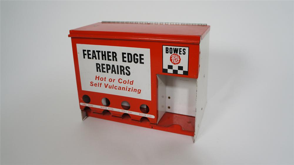 "1950's Bowes Seal Fast ""Feather Edge Repairs"" automotive department counter-top display cabinet. - Front 3/4 - 170788"