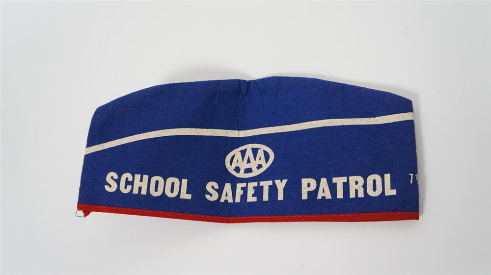Nifty 1950's Triple A School Safety Patrol crossing guard cap. - Front 3/4 - 170806